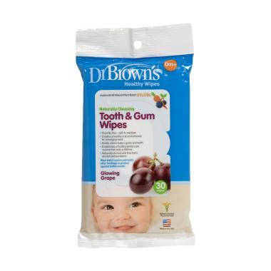 Jual Dr Brown S Tooth Gum Wipes Tissue Pembersih Gigi Dan Gusi