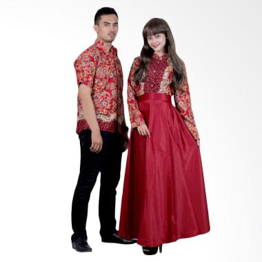 Batik Putri Ayu Solo Sarimbit SRG113 Batik Gamis - Merah
