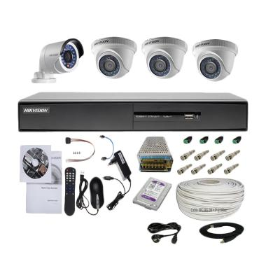 Hikvision 4 Camera Turbo HD Paket K ...  Indoor/1 Outdoor/2.0 MP]