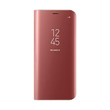 Samsung Clear View Standing Cover Casing for Galaxy S8 Plus - Pink