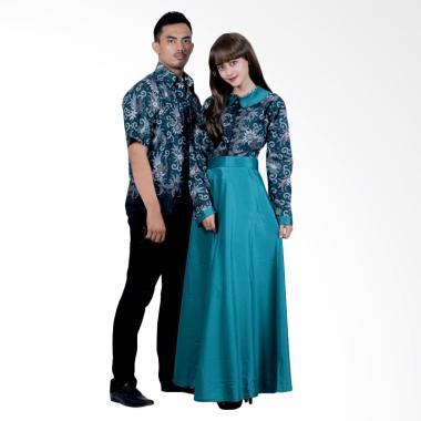 Batik Putri Ayu Solo Sarimbit SRG111 Batik Gamis - Hijau