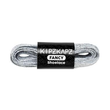 harga KipzKapz Shoelace Tali Sepatu Pipih Flat Metallic 8mm - Silver [115 cm] Blibli.com