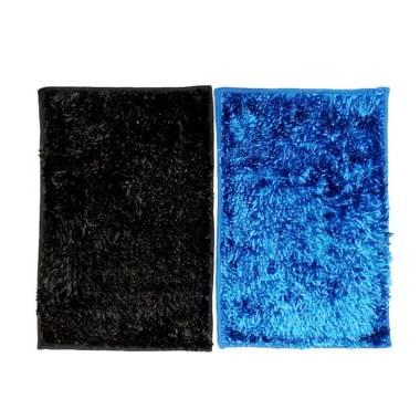 Ellenov Microfiber Metalic Anti Slip Keset Cendol - Biru Tua dan Hitam