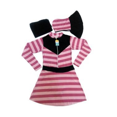 Alya Collection Salur Baju Renang Muslimah Dewasa - Pink