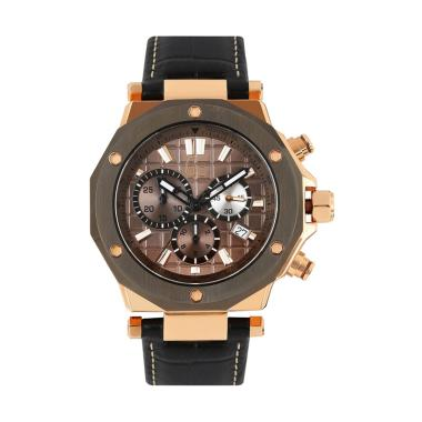 GUESS COLLECTION Leather Jam Tangan Pria Gc X72024G5S - Rosegold