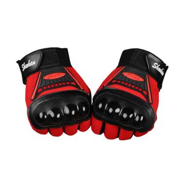 Ormano Racing Bike Fingerless SH Man Sarung Tangan - Hitam Merah