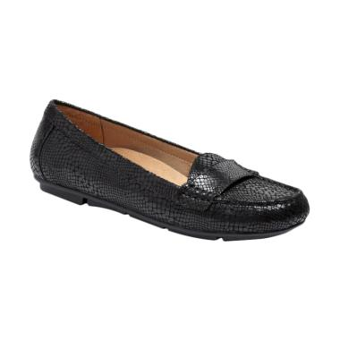 Vionic Larrun Black Snake Loafer Wanita