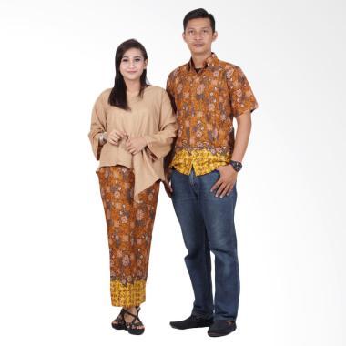 Batik Putri Ayu Solo srd202 Batik Couple Dress - Coklat