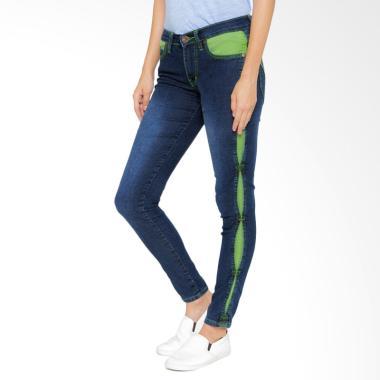 Jeans  , DI - 881B -Green Line Skinny Jeans, Celana Panjang Casual, Denim, jeans  casual