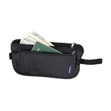 Travel Check Invisiblle Anti Theft Waist Bag Tas Pinggang - Black