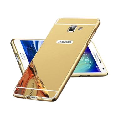 OEM Luxury Bumper Metal Sliding Backcase Casing for Samsung J7 Prime - Gold