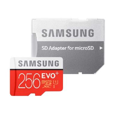 Samsung EvoPlus MicroSDXC Memory Card with Adapter - Merah [256GB/95MB/s]