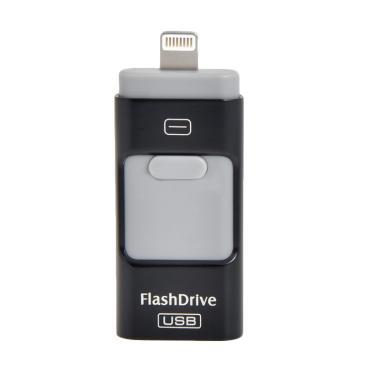 Flashdrive Original 3 in 1 iUSB OTG ... e or iPad - Black [64 GB]