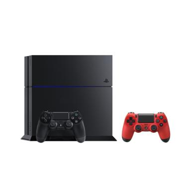 SONY Playstation 4 CUH-1206A Game Console [Garansi SONY]+ Free PS4 Controller Magma Red