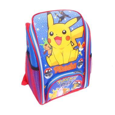 Istana Kado Online Tas Sekolah Anak Pokemon Pikachu Tas Ransel - Biru