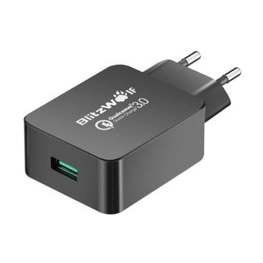 BlitzWolf BW-S5 Qualcomm Quick Char ... l Charger- Black [1 Port]