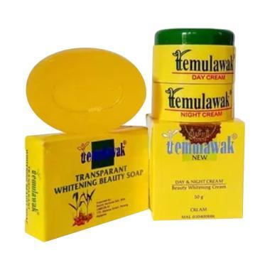 Temulawak Paket Krim Holo Super Sabun Oval Set Perawatan Kulit