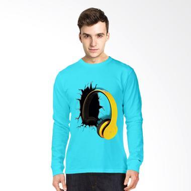 T-Shirt Glory 3D  Airphone Drag Lengan Panjang Kaos - Turkis Muda