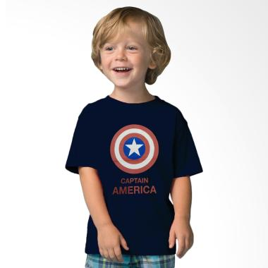 Adamsbell Superhero Captain America ... ium Kaos Anak - Biru Navy