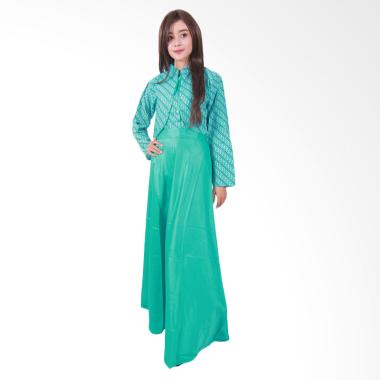 Batik Putri Ayu Solo G077 Hijab Batik Clarissa Gamis- Tosca