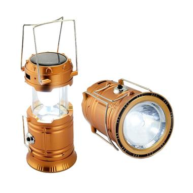 Lampu Camping Emergency Solar Plus Senter 5800 - Gold