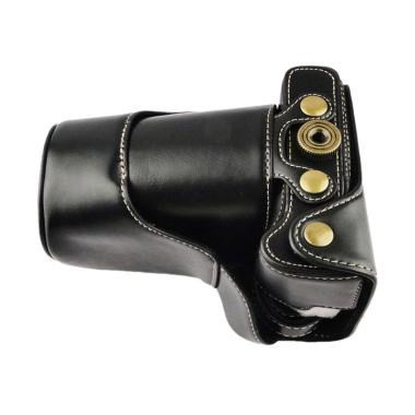 Universal Leather Casing for Kamera Mirrorless Canon EOS M3 - Hitam