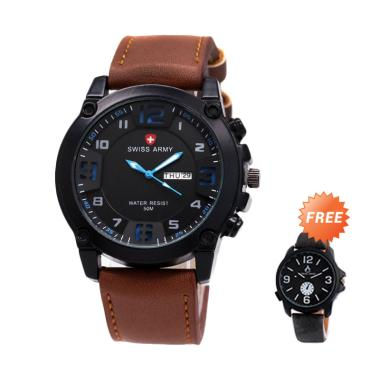 Swiss Army 002 Jam Tangan Pria - Co ... angan Casual - Hitam Biru