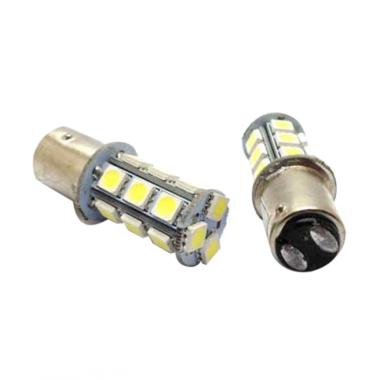 LED Stop Lamp Strobo Blitz Kedip 18 ...  2 Kaki Lampu Rem - Putih