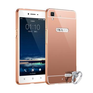 Case Bumper Chrome With Backcase Mi ... Selfie Expert - Rose Gold