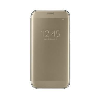 Samsung Original Clear View Cover C Alaxy A5 2017 A520 Gold