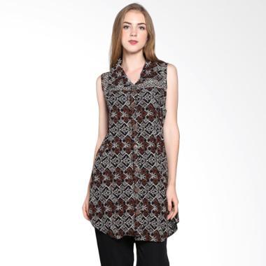 Batik Pria Tampan Women Wdrtl-04081616p-Teak Soga Sleeveless Dress