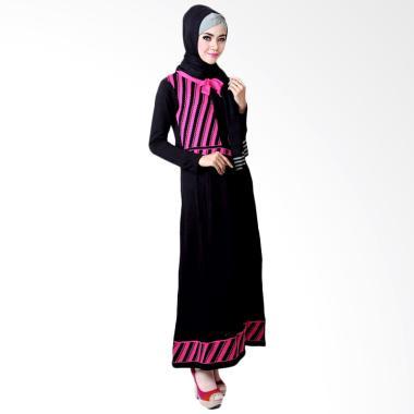 Supernova House Gloria GL Dress Muslim - Black Pink Magenta