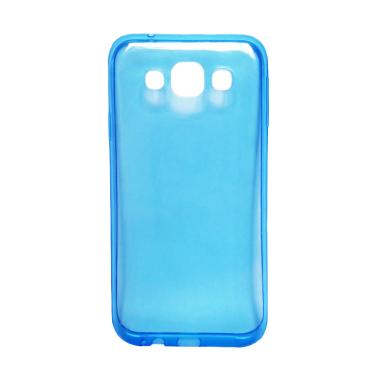 Ultrathin Transparant Softcase Casing for Samsung J510 or J5 2016 - Biru