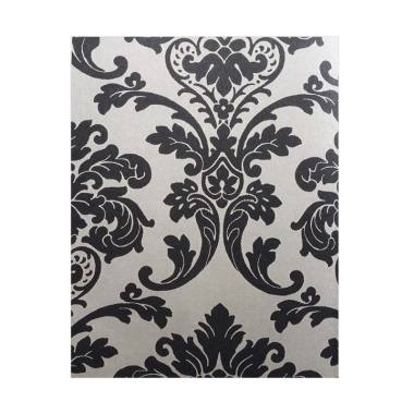 Java Wallpaper AR9102 QUEEN Motif B ... Dekorasi Dinding - Hitam