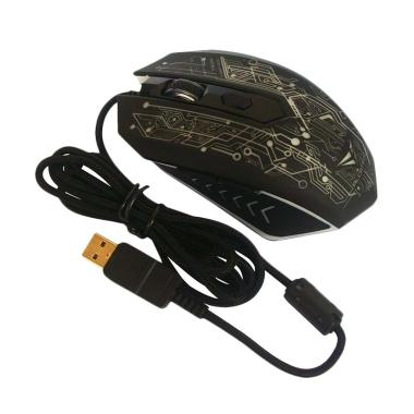 Alcatroz X-Craft PRO TRON5000 Macro 6D USB Gaming Mouse with Mouse Pad - Hitam