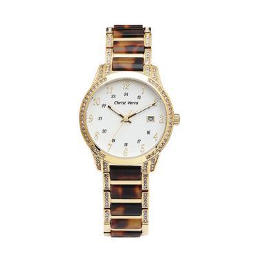 Christ Verra CV 70101L-12 WHT Jam Tangan Fashion Wanita - White Gold