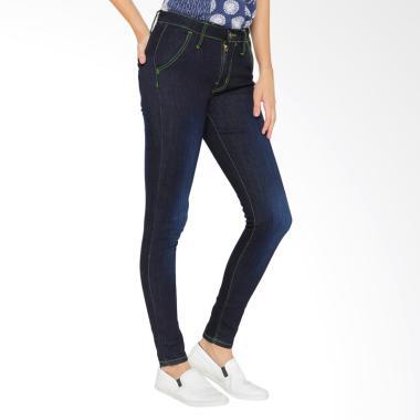 Doa Ibu DI-80 Skinny Jeans Casual Celana Wanita - Blue Velvet