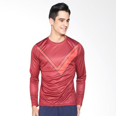 Trijee Men Shirt Long Sleeve Ivande ... ga - Maroon IVANDER-MR-LS