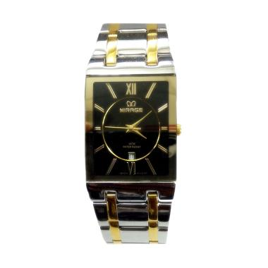 Mirage M975G Jam Tangan Fashion Pria - Silver Black Gold