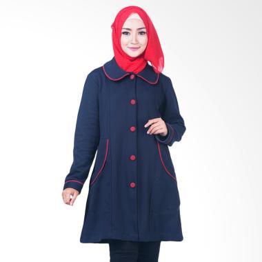Believe BJM-03 Jaket Parka Ziper Ho ... aket Muslim Wanita - Biru