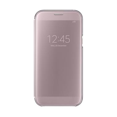 promo code 9b24c ece5d Samsung Original Clear View Cover Casing for Samsung Galaxy A7 2017 A720 -  Pink