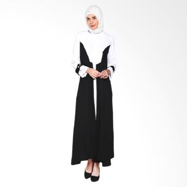 De ChantiQue Safira Broken Linen Long Sleeves Maxi Dress - White Black