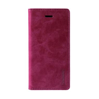 Mercury Goospery Blue Moon Flip Cover Casing for iPhone 7 4.7 Inch - Wine