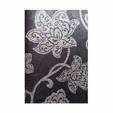 Java Wallpaper KQ2892 Queen Motif B ...  Dekorasi Dinding - Hitam