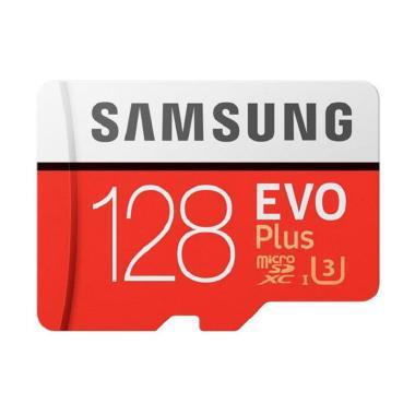 Samsung EVO Plus microSDXC UHS-I Card with Adapter - Merah [128 GB/