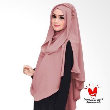 Kus Group Hijab Khimar Al Zaina Kerudung Instan Syar'i - Dusty pink