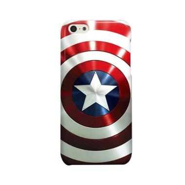 Indocustomcase Captain America Shie ... asing for Apple iPhone 5C