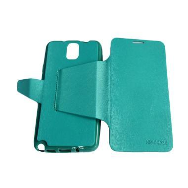 QCF Kingcase Flip Cover Casing for...Note 3 N9005 - Biru Muda