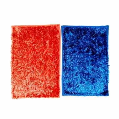 Ellenov Cendol Microfiber Metalic Anti Slip Keset - Biru Orange