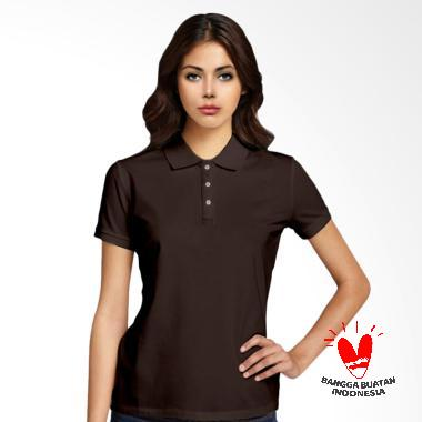 Morning Whistle Basic Polo Shirt Wanita - Brown American Eagle